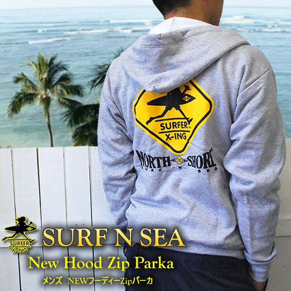 【SURF-N-SEA】【送料無料】【サーフアンドシー】【サーフィンシー】メンズ サーファーXingフーディーZipパーカHawaii ハワイ雑貨 ハワイアン