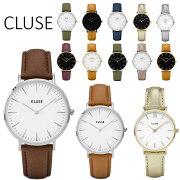 【日本公式品】CLUSE腕時計クルースLaBoheme(ラ・ボエーム)ゴールド/シルバー/ブラック38mm径