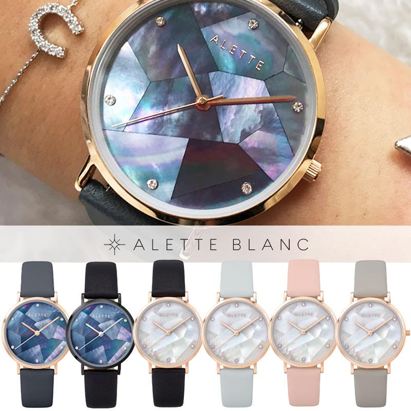 アレットブラン ALETTE BLANC レディース腕時計 リリーコレクション (Lily collection) スワロフスキークリスタル マザーオブパール 全6色【予約受注!(10月下旬より順次発送予定)】 ally denovo 好きにも