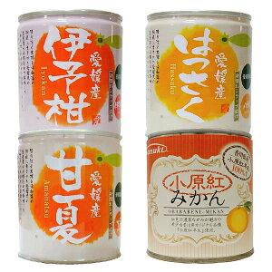 【愛媛・香川産柑橘缶詰(小原紅みかん・伊予柑・はっさく・甘夏)セット12個入【送料無料】