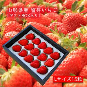 雪芽いちご(Lサイズ×15粒)[ギフトBOX入]<1月上旬頃より発送>箱入
