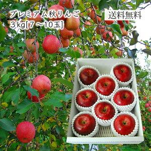 プレミアム秋りんご約3kg(7〜10玉)[化粧箱入]