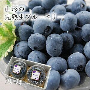 山形の完熟生ブルーベリー400g(200g×2パック)[箱入]