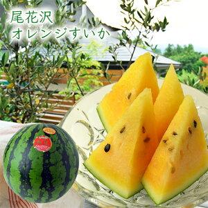 尾花沢オレンジすいか1玉(L〜3Lサイズ)