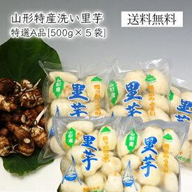 山形特産洗い里芋(特選A品500g×5袋)
