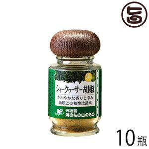 シークヮーサー胡椒 (粉タイプ) 14g×10瓶 沖縄 人気 土産 ノビレチン 調味料 フルーツ 送料無料