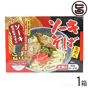 沖縄ソーキそば2食入(生沖縄そば麺) 沖縄 人気 琉球料理 定番 土産 送料無料