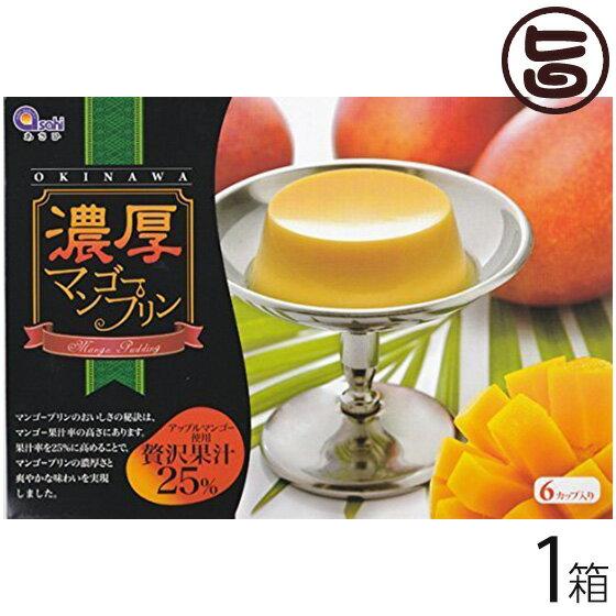 マンゴープリン アップルマンゴー使用 濃厚 贅沢果汁25% 6個入り×1箱 送料無料 沖縄 土産 沖縄土産 定番 スイーツ お取り寄せ