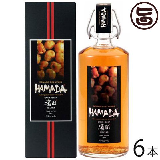 三年熟成 梅酒 HAMADA 金箔入り 750ml×6本 送料無料 和歌山県 土産 お酒 人気 高級