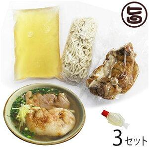 てびちそば テビチ(豚足)の塩漬け入り ×3食分 一度食べたらやみつき 沖縄そばの本場から本物の味をお届け 沖縄 土産 人気 定番 条件付き送料無料