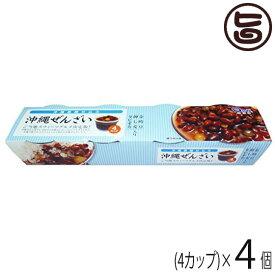 沖縄黒糖ぜんざい 360g(90g×4カップ)×4個 送料無料 沖縄 土産 沖縄土産 定番 土産 昔ながら あんこ