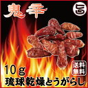 日本一辛い 鬼辛 琉球乾燥とうがらし 10g 送料無料 沖縄 島唐辛子 人気