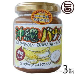 ぎのざジャム 手作りジャム バナナ ココナッツミルク 黒糖入り 140g×3瓶 沖縄 土産 フルーツ 珍しい 林修の今でしょ 講座 おやつ 黒糖 送料無料