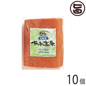 北海道 ちほく高原ベーコン 400g×10個 ブロック 加工肉 お土産 人気 ギフト 条件付き送料無料