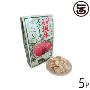 石垣牛 ステーキ風味せんべい 塩ワサビ 74g×5P 沖縄県 人気 定番 お土産  条件付き送料無料