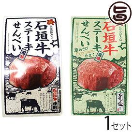 石垣牛 ステーキ風味せんべい食べ比べ 送料無料 沖縄県 人気 定番 お土産