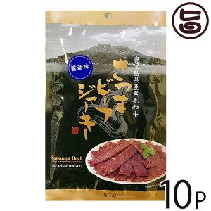 水迫畜産 さつまビーフジャーキー醤油味 30g×10P 鹿児島 土産 黒毛和牛 おつまみ 条件付き送料無料