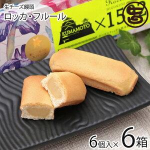 あそりんどう ロッカ・フルール 6個入り×6箱 生 チーズ饅頭 (ヒゴクニ) 熊本 土産 熊本土産  送料無料