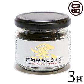 鳥取県産 完熟黒らっきょう 1瓶70g×3個セット 鳥取県 産地直送 砂丘 らっきょう ポリフェノール 健康 調味料 無添加 自然食品 ためしてガッテン 送料無料