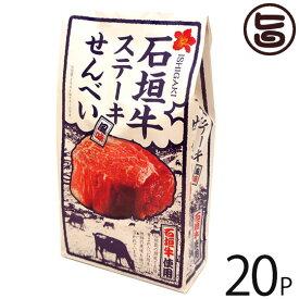 大藤 石垣牛 ステーキ風味せんべい 80g×20P 沖縄 土産 お菓子 さくさく スナックせんべい 送料無料