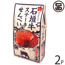 大藤 石垣牛 ステーキ風味せんべい 80g×2P 沖縄 土産 お菓子 さくさく スナックせんべい 送料無料