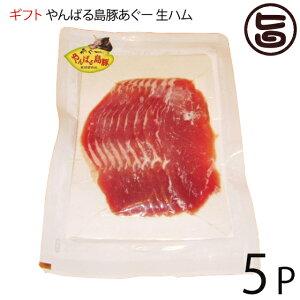 ギフト フレッシュミートがなは やんばる島豚あぐー ≪黒豚≫ 生ハム 100g×5P フレッシュミートがなは 沖縄 土産 アグー あぐー 貴重 肉 人気 条件付き送料無料