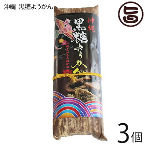 琉民 沖縄 黒糖ようかん 200g×3本 和菓子 沖縄 土産 お土産 人気 送料無料