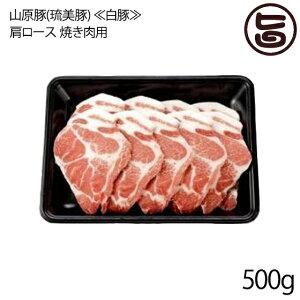フレッシュミートがなは 山原豚(琉美豚) ≪白豚≫ 肩ロース 焼き肉用 500g 沖縄 土産 アグー あぐー 貴重 肉 人気 条件付き送料無料