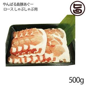 フレッシュミートがなは やんばる島豚あぐー ≪黒豚≫ ロース しゃぶしゃぶ用 500g 沖縄 土産 アグー 貴重 肉 人気 条件付き送料無料