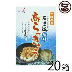 南都物産 沖縄県産 石垣の塩漬け 島らっきょう 60g×20箱 炒め物料理やお酒のおつまみに 人気 お土産 送料無料