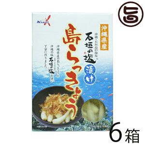 南都物産 沖縄県産 石垣の塩漬け 島らっきょう 60g×6箱 炒め物料理やお酒のおつまみに 人気 お土産 送料無料