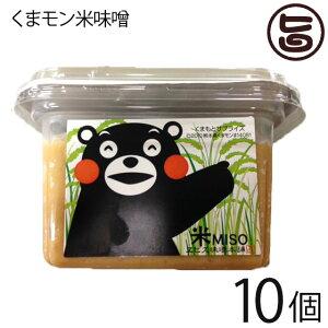 貝島商店 くまモン米味噌 300g×10個 熊本伝承のこだわりの木樽仕込み味噌 調味料 熊本 土産 人気 条件付き送料無料
