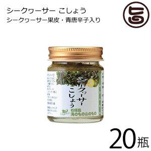 海のもの山のもの シークヮーサーこしょう 生タイプ 40g×20瓶 沖縄 人気 土産 ノビレチン 調味料 フルーツ 送料無料