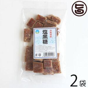 わかまつどう製菓 塩黒糖 (加工) 140g×2袋 沖縄 人気 土産 定番 お菓子 黒砂糖  送料無料
