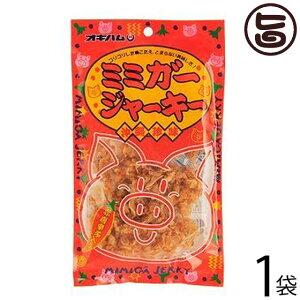 オキハム ミミガージャーキー 23g×1袋 沖縄土産 沖縄 土産 人気 定番 おつまみ 豚耳 珍味 送料無料