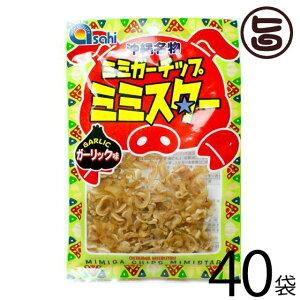 あさひ ミミガーチップ ミミスター ガーリック味 30g×40袋 沖縄 土産 人気 珍味 豚耳 おつまみ おやつ 送料無料