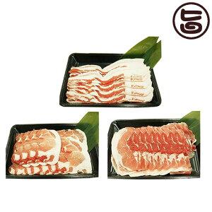 フレッシュミートがなは やんばる島豚あぐー 黒豚 しゃぶしゃぶセット(背ロース・バラ(三枚肉)・モモ各200g) 沖縄 土産 アグー 貴重 肉 条件付き送料無料