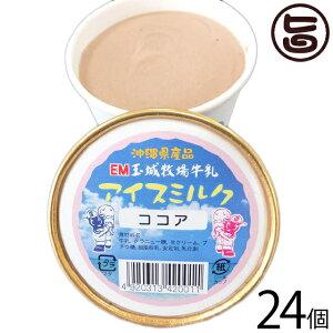 ギフト 玉城牧場牛乳 EMジェラート アイスミルク 24個入り ココア 卵不使用 沖縄 土産 珍しい ご当地アイス 条件付き送料無料