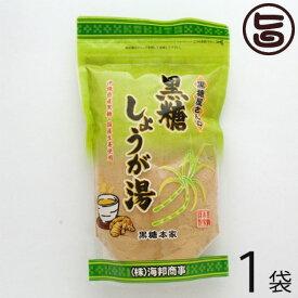 海邦商事 黒糖屋さんの黒糖しょうが湯 180g×1袋 沖縄 土産 人気 黒糖 生姜湯 体を温めたいあなたへ 送料無料
