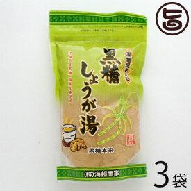 海邦商事 黒糖屋さんの黒糖しょうが湯 180g×3袋 沖縄 土産 人気 黒糖 生姜湯 体を温めたいあなたへ 送料無料