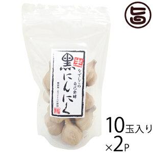 なでしこの自然食品 なでしこの自己発酵 生・黒ニンニク 10玉入り×2袋 大阪 人気 発酵自然食品 ポリフェノールアミノ酸が豊富 S−アリルシステイン 無添加 無着色 国産にんにく使用 送料無