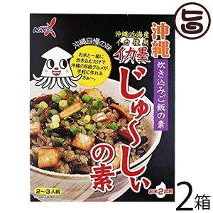 南都物産 イカ墨じゅ〜しぃの素(3〜4人前)×2箱 沖縄 土産 人気 ご飯の素 味付き 具入り パスタやリゾットなどの調味料としても 送料無料
