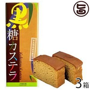 沖縄農園 黒糖カステラ 300g×3箱 沖縄 土産 菓子 多良間島産黒糖と国産小麦使用 送料無料