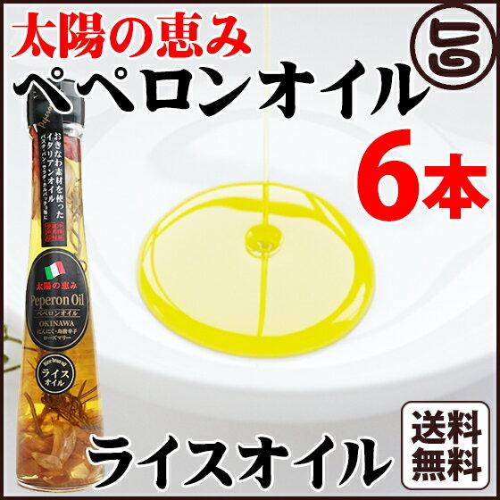太陽の恵み ペペロンオイル ライスオイル110g×6本 送料無料 沖縄県 人気 定番 お土産 調味料 油 健康