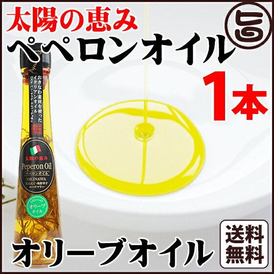 太陽の恵み ペペロンオイル オリーブオイル 110g×1本 送料無料 沖縄県 人気 定番 お土産 調味料 油 健康