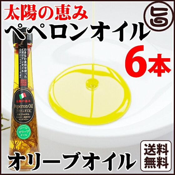 太陽の恵み ペペロンオイル オリーブオイル 110g×6本 送料無料 沖縄県 人気 定番 お土産 調味料 油 健康