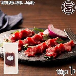 ギフト フジチク 熊本肥育 馬刺し 上赤身 100g×1P タレ・生姜付き 熊本県 土産 人気 馬肉 低カロリー 低脂質 ご自宅用に 贈り物に 送料無料