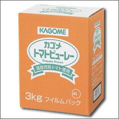 【当店オリジナルすぐに使えるクーポン付】【送料無料】カゴメ 国産トマトピューレー3kg×2ケース(全8本)