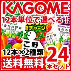 【送料無料】カゴメ 紙パック飲料(12本×2種類)合計24本セット【選べる】【選り取り】