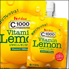 【送料無料】ハウス C1000ビタミンレモンゼリー180g×1ケース(全24本)